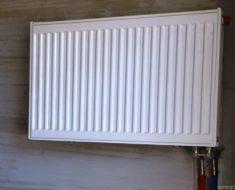 Установка стального радиатора в доме