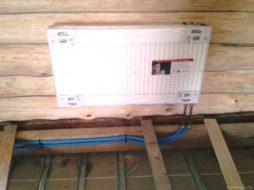 Монтаж радиатора в деревянном доме