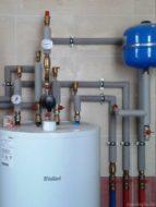 Обвязка водонагревателя из меди в частном доме